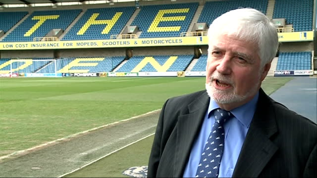 millwall fc shareholders targetted in scam the den ext tom simmons interview sot these shares would value the company at something like 300 billion... - fee stock videos and b-roll footage