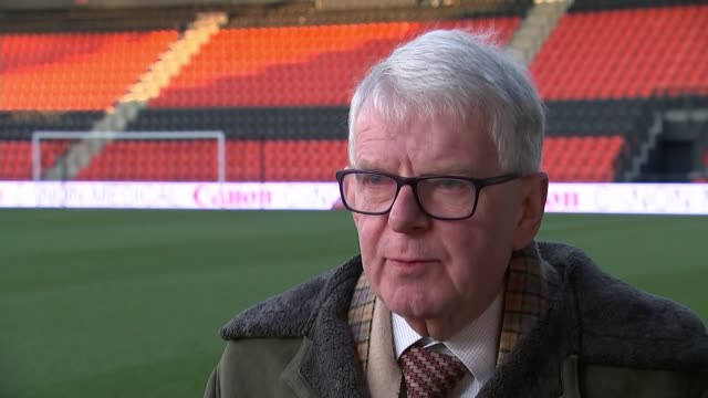 millwall football club to ban any supporters involved in racist chanting england ext john motson interview sot - john motson stock videos and b-roll footage
