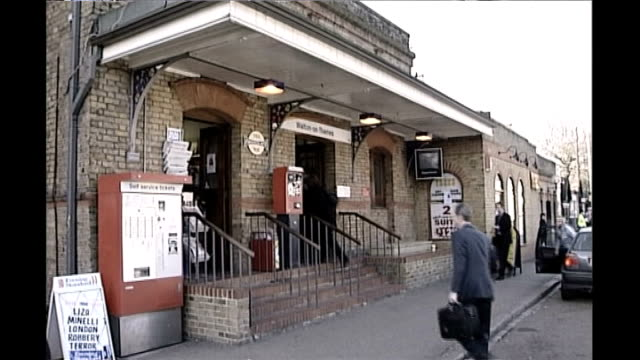 levi bellfield trial begins 2002 ext police searching outside walton on thames train station and missing poster on post box - missing poster stock videos & royalty-free footage