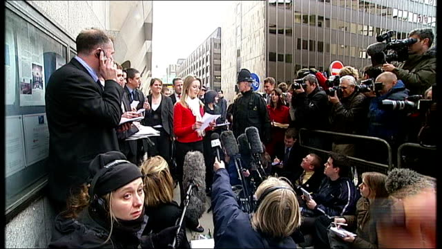 levi bellfield trial begins; tx 25.2.2008 kate sheedy reading statement to press after levi bellfield trial - levi's stock videos & royalty-free footage