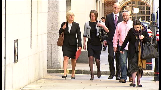 milly dowler murder trial: former partner of levi bellfield gives evidence against him; england: london: old bailey: ext various views of emma mills... - levi's stock videos & royalty-free footage