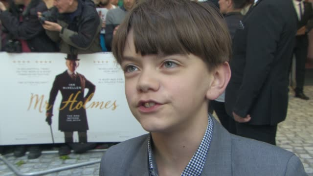 interview milo parker on working with sir ian mckellen the advice he was given on set not being a fan of sherlock holmes at mr holmes uk film... - ian mckellen stock videos and b-roll footage
