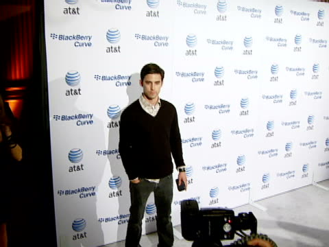 milo ventimiglia at the blackberry curve from at&t u.s. launch party at beverly hills california. - curve stock videos & royalty-free footage