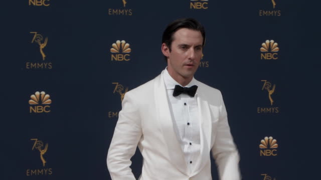 milo ventimiglia from the hit program, this is us, on the red carpet for the 2018 emmy awards. - emmy awards stock videos & royalty-free footage
