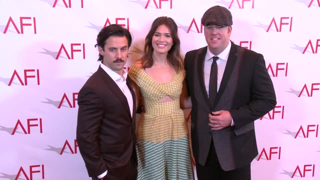 milo ventimiglia, mandy moore and chris sullivan at 17th annual afi awards at four seasons hotel los angeles at beverly hills on january 06, 2017 in... - four seasons hotel stock videos & royalty-free footage