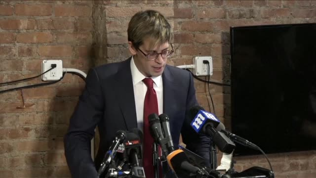 milo yiannopoulos resigns as editor of right wing news site breitbart as he faces the media after losing a book deal and a speaking engagement over... - pedophilia stock videos and b-roll footage