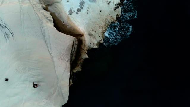 milos aerial views - greece - athens greece stock videos & royalty-free footage