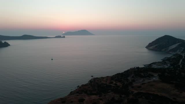 milos aerial views - greece - rhodes dodecanese islands stock videos & royalty-free footage