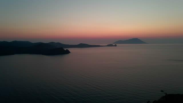 milos aerial views - greece - mykonos stock videos & royalty-free footage