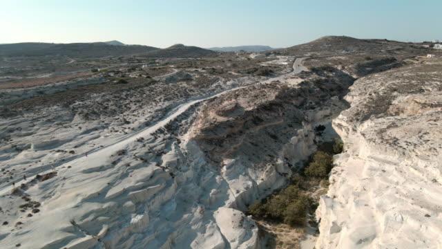 milos aerial views - greece - insel santorin stock-videos und b-roll-filmmaterial