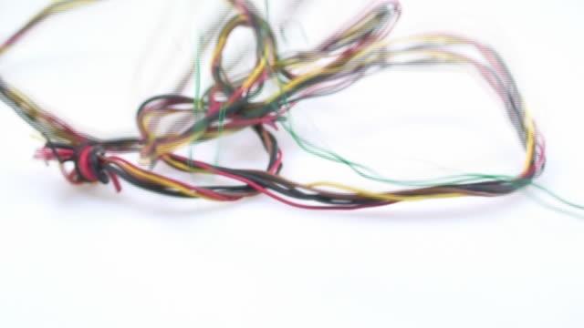 vídeos y material grabado en eventos de stock de milticolor cable - material