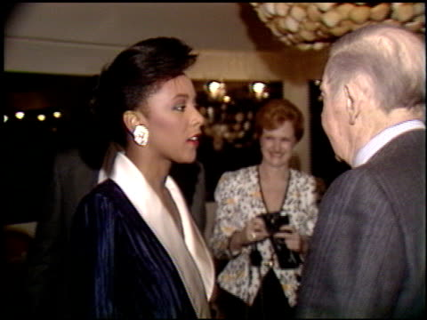 milton berle at the miss america / merv griffin reception at trader vic's in beverly hills california on march 5 1990 - griffin stock videos & royalty-free footage