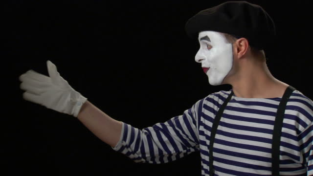 mime beckoning with finger - formal glove stock videos and b-roll footage
