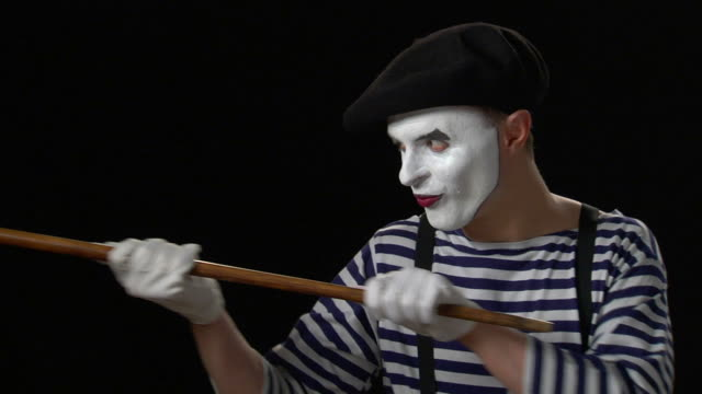 mime cane 3 - hook stock videos and b-roll footage