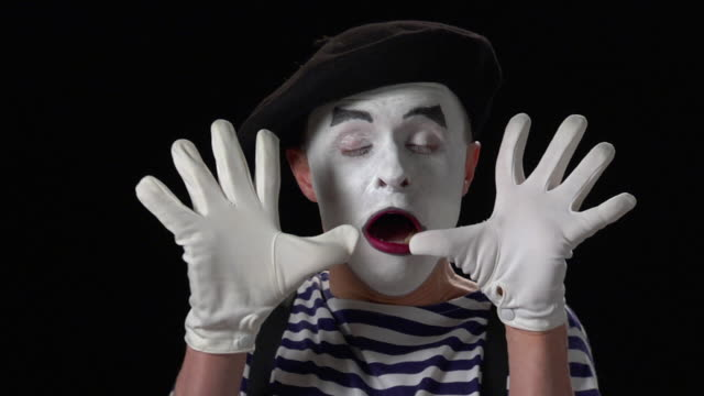 mime fear 2 - mime artist stock videos & royalty-free footage