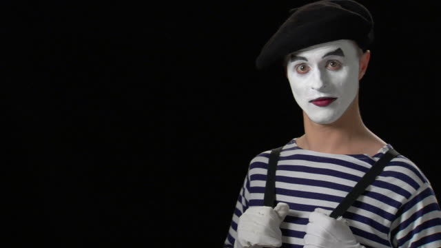 mime - good news 2 - mime artist stock videos & royalty-free footage
