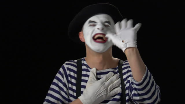 mime laugh - pantomime stock videos and b-roll footage