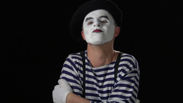 mime laughing 3 - hysteria stock videos & royalty-free footage