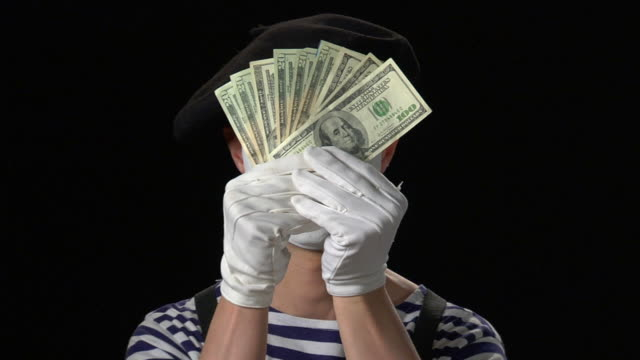 mime money 7 - sad to happy - mime stock videos & royalty-free footage