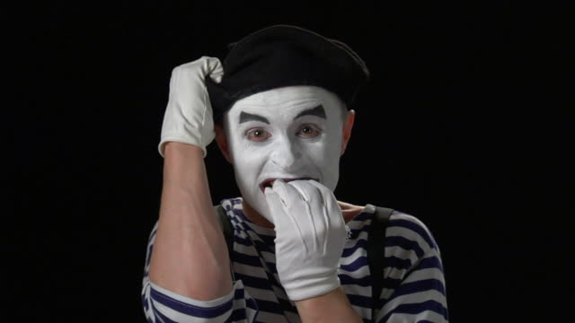 mime panic - formal glove stock videos and b-roll footage