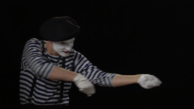 mime rope metaphor - mime artist stock videos & royalty-free footage