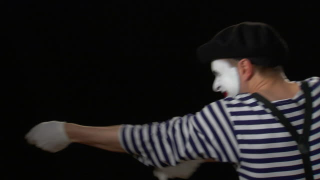 mime rope pull and lean - pantomime stock videos and b-roll footage