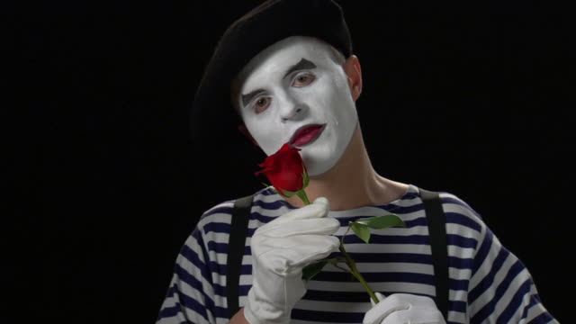 mime rose embrace 3 - mime stock videos & royalty-free footage