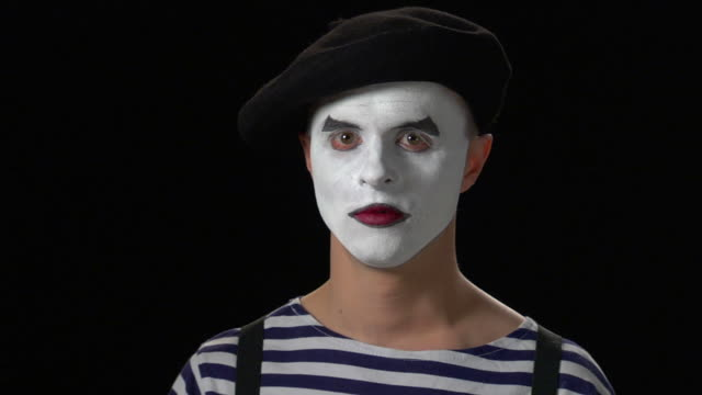 mime sorrow 2 - mime artist stock videos & royalty-free footage