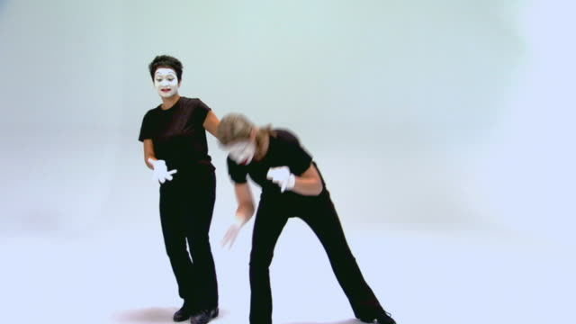 mimes performing all things new - mime artist stock videos & royalty-free footage
