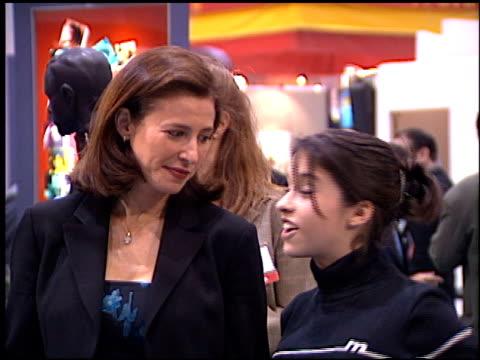 vídeos de stock e filmes b-roll de mimi rogers at the natpe convention on january 20, 1998. - natpe convention