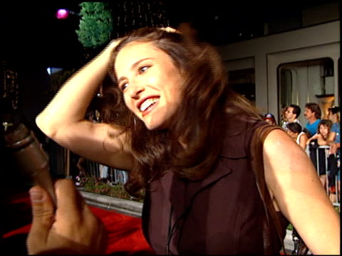 Mimi Rogers at the Planet Hollywood entrances on September 17 1995