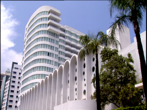 mimo (miami modern) architecture style buildings - アールデコ点の映像素材/bロール