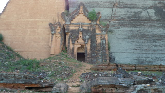 minamar (burma),mingun, the incomplete monument stupa - stupa stock videos & royalty-free footage