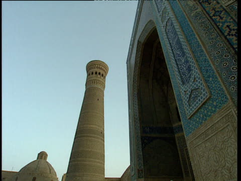 minaret of kalyan mosque bukhara uzbekistan - bukhara stock videos and b-roll footage