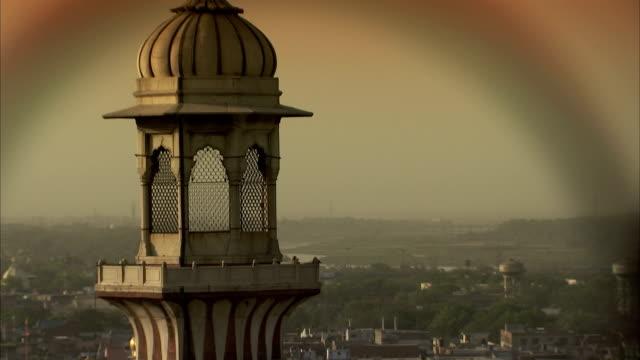A minaret overlooks Delhi.