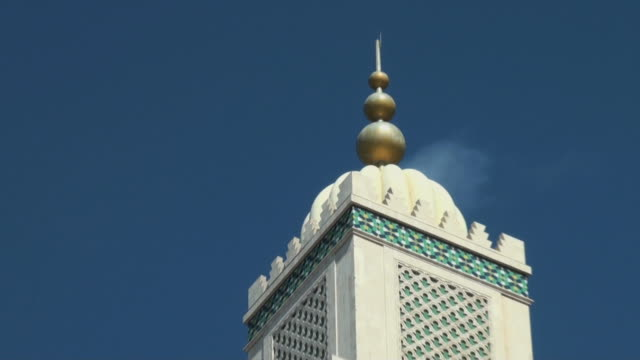 minaret tower of hassan ii mosque in morocco; architectural detail - casablanca morocco stock videos & royalty-free footage