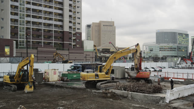 minato mirai - 建設機械点の映像素材/bロール