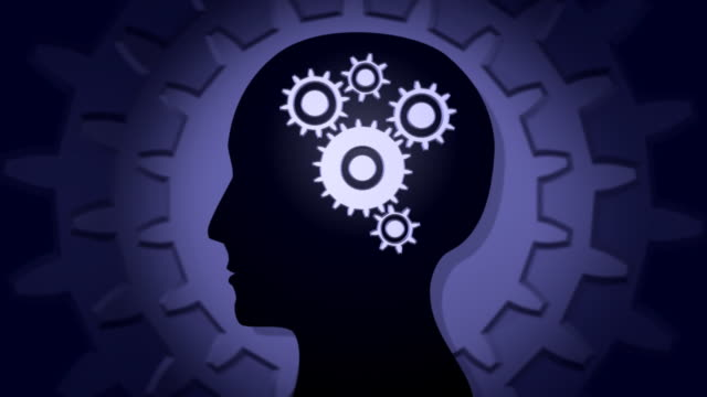 mind 01 gears - human brain stock videos & royalty-free footage