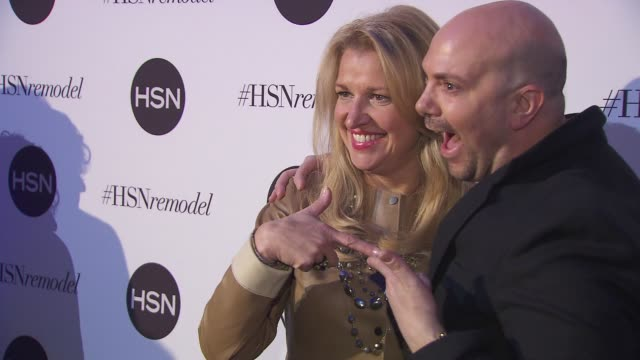 mindy grossman and david evangelista at hsn celebrates digital redesign at marquee on january 16 2013 in new york new york - david grossman stock videos & royalty-free footage