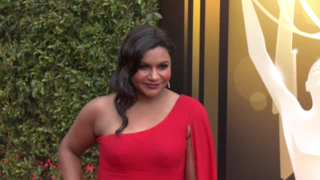 mindy kaling at the 2015 creative arts emmy awards at microsoft theater on september 12 2015 in los angeles california - emmy awards stock videos & royalty-free footage