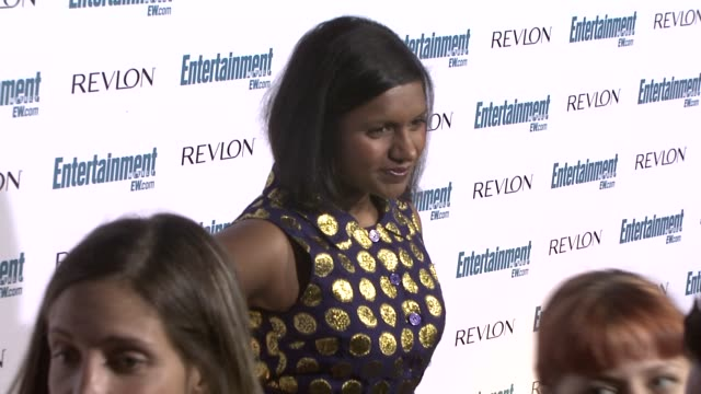 mindy kaling at the entertainment weekly 6th annual pre-emmy party at los angeles ca. - エミー賞前夜祭パーティー点の映像素材/bロール