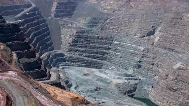 Mine after a blast - Super pit gold mine in Kalgoorlie Boulder in Western Australia