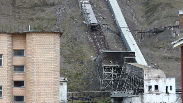 Mine shaft in Russian Ghost Town of Pyramiden