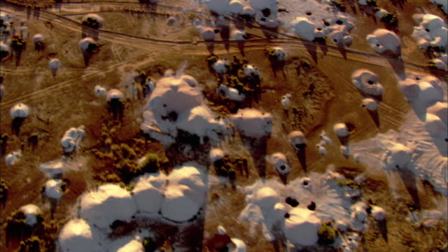 ms aerial minefields covering open land in outback, anna creek, south australia, australia - land mine stock videos and b-roll footage