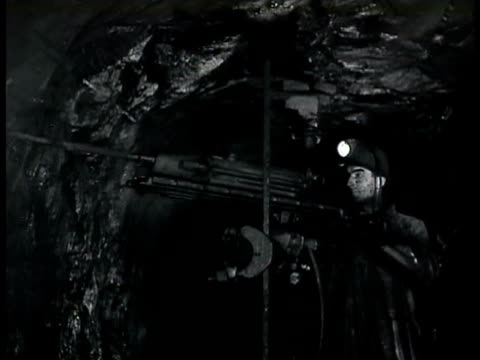 miner drilling in mine wall cu water cooled drill bit drilling into mine wall wwii - 1943 stock videos and b-roll footage