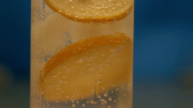 mineral water with ice and lemon - fizzy lemonade stock videos & royalty-free footage