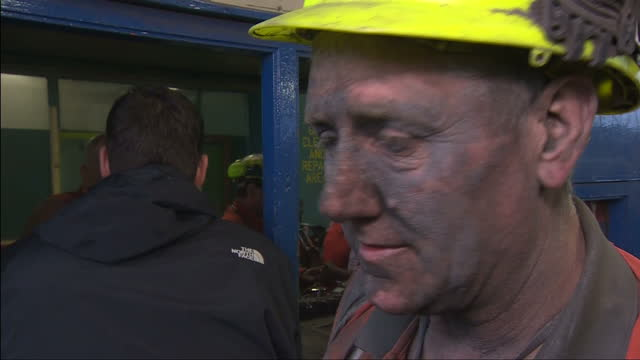 miners at the country's only remaining deep coal pit have clocked off for the last time writing the final chapter in britain's rich mining history... - miner stock videos & royalty-free footage