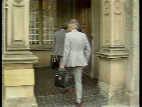 day 120 scotland edinburgh gv exterior of hotel where talks took place few police outside ms arthur scargill num ldr mick mcgahey scottish num ldr... - miner stock videos & royalty-free footage
