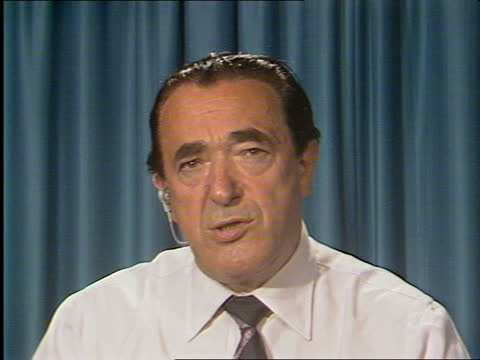 """day 177 talks; england: brighton: int cms robert maxwell live studio intvw sof: """"certainly not, i -- have been aborted."""" - itv news at one stock videos & royalty-free footage"""