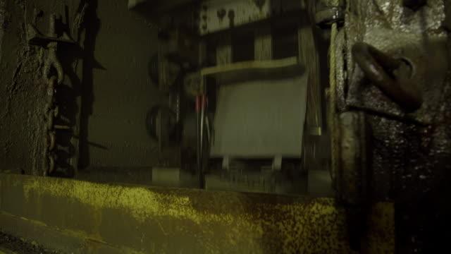 cu of mineshaft elevator going down - mine shaft stock videos & royalty-free footage